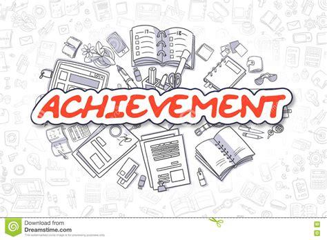 doodle text achievement doodle text business concept stock