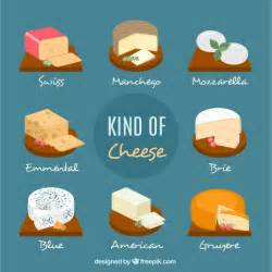 different types of cheeses vector free
