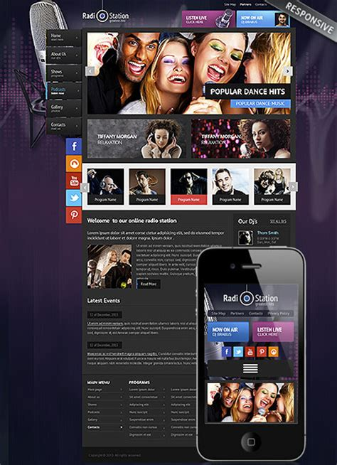 radio wordpress template id 300111771