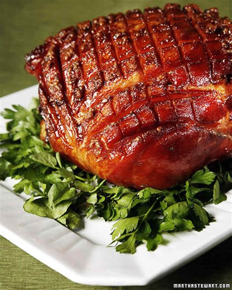 baked easter ham recipe video martha stewart