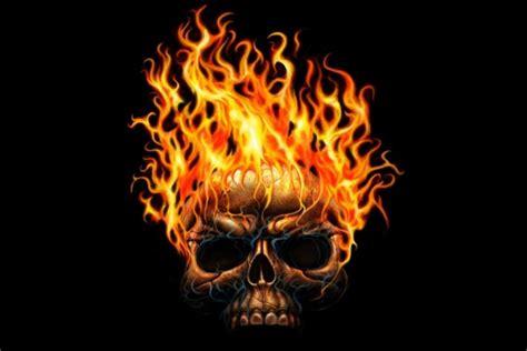 imagenes de calaveras en llamas 3d calavera en llamas 10122