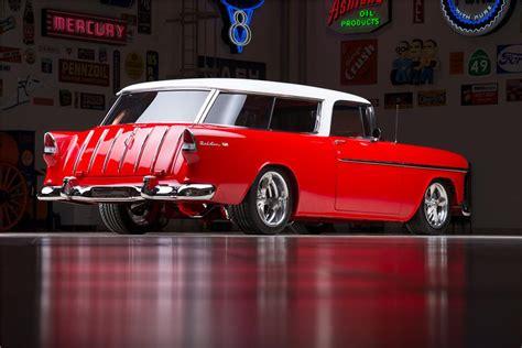 Wheels Chevy55 Black Dove 1955 chevrolet nomad custom wagon 178540