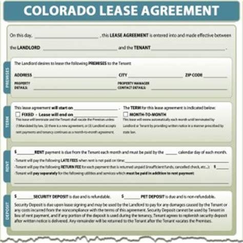 free printable lease agreement colorado colorado lease agreement