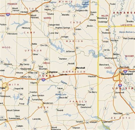 where is marshall texas on the map map to marshall texas