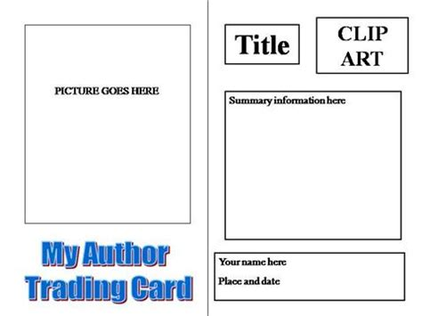 author trading card template authorstream