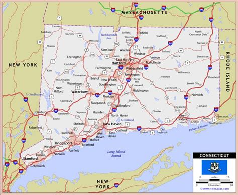 printable connecticut road map connecticut massechusetts rhode island