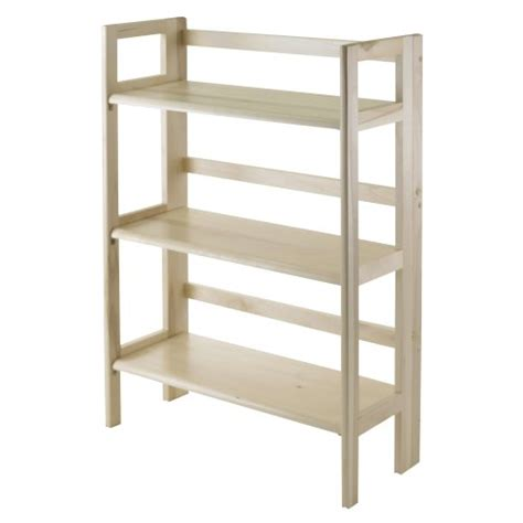 3 tier stackable folding wood bookcase cheap winsome wood stackable folding 3 tier shelf natural
