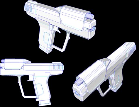 Papercraft Halo - free halo m6d magnum sidearm papercraft by