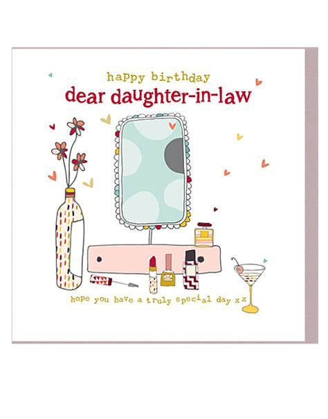 Daughter In Law Birthday Cards   Molly Mae Female Birthday