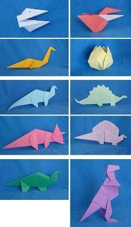 How To Make A Dinosaur Out Of Paper - paper dinosaurs by alan folder is a origami