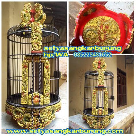 Tebok Kandang Anis sangkar anis merah motif naga sangkar burung sangkar