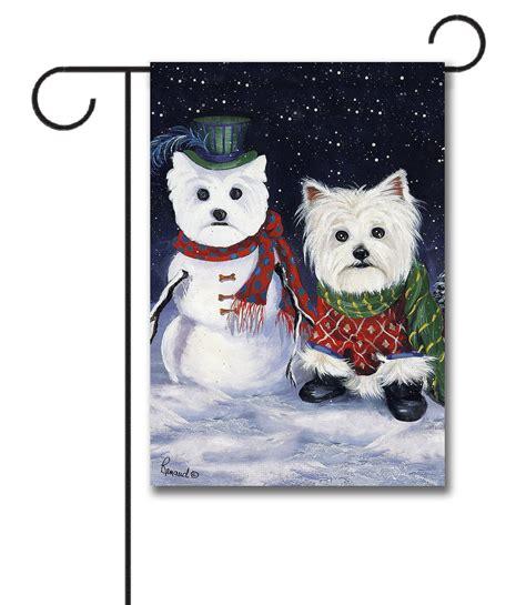 Snowman Doormat West Highland Terrier Self Portrait Garden Flag 12 5