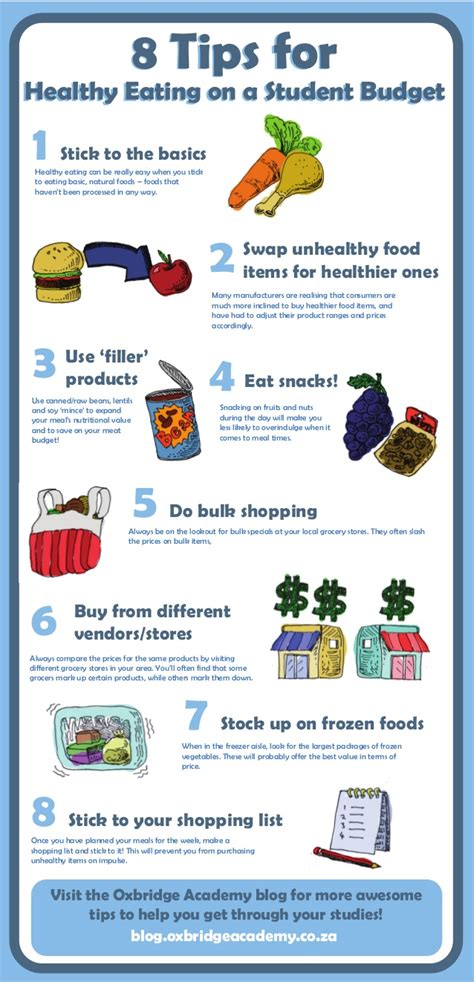 8 Tips For A 8 tips for healthy on a student budget copy