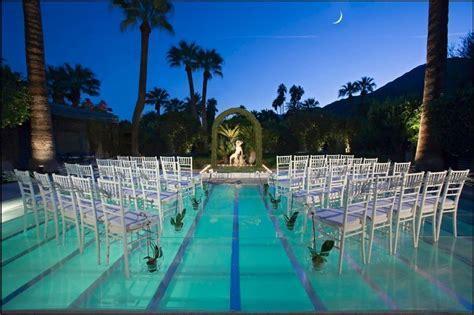 Pool Decor Ideas   Translucent Pool Cover for Wedding