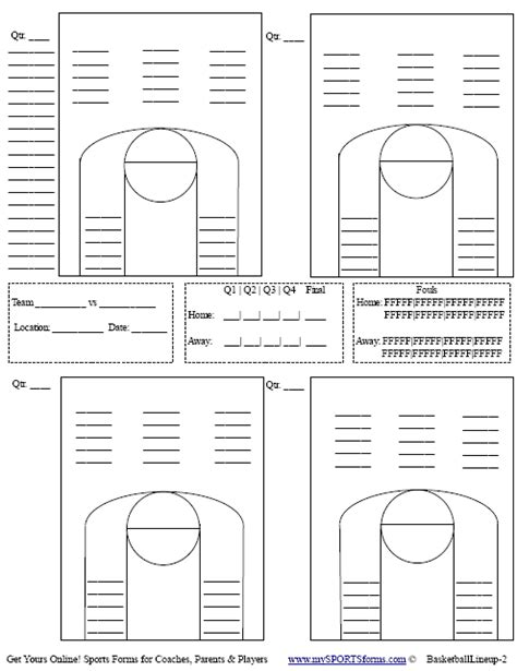 soccer starting lineup template basketball play sheets vertola
