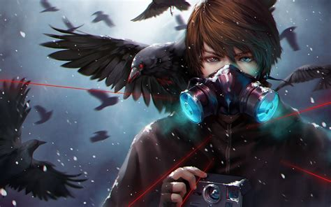 wallpaper anime mask call of the crows full hd wallpaper and background