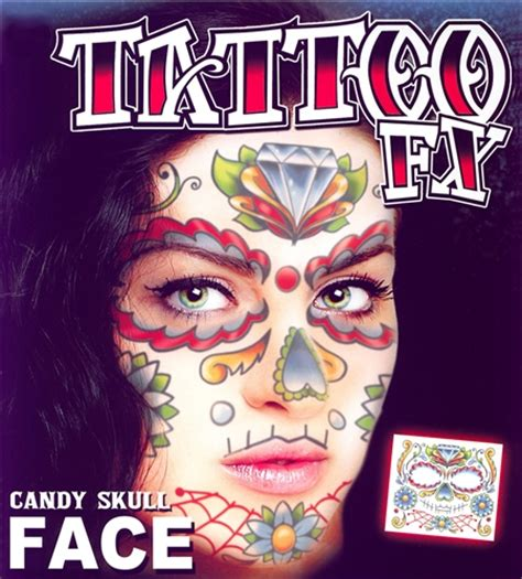 day of the dead temporary tattoos day of the dead skull temporary kit 1