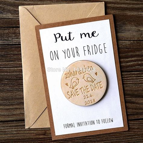 wedding favors magnets personalized wooden save the date magnets rustic wooden