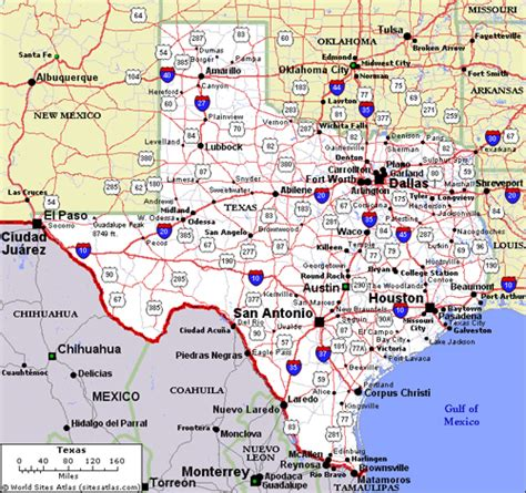 map of texas area texas map