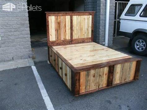 diy size pallet bed frame pallet size bed 1001 pallets