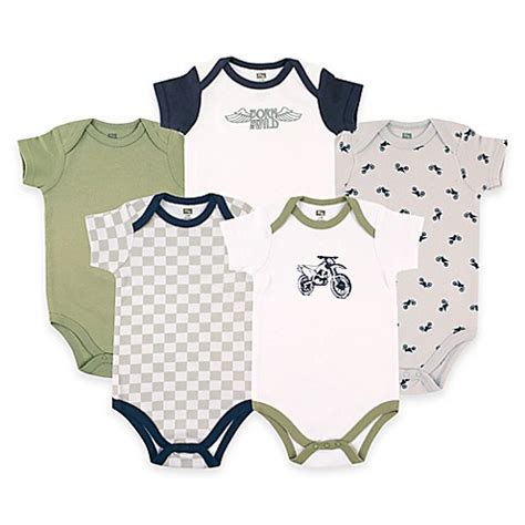 hudson baby 5 pack bodysuits cray babyvision 174 hudson baby 174 5 pack dirt bike sleeve