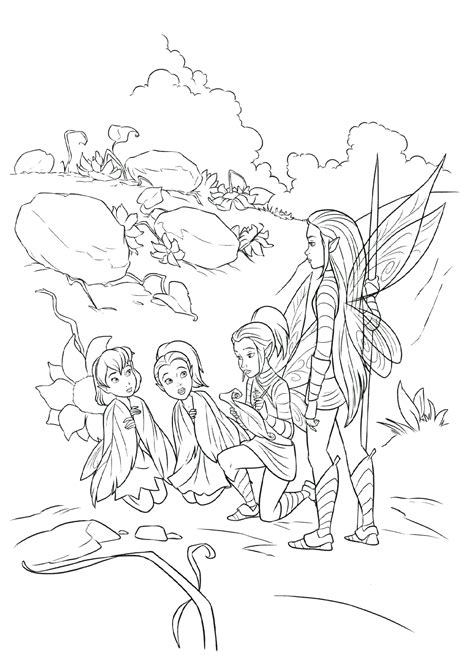 coloring pages for tinker bell and the legend of the neverbeast coloring