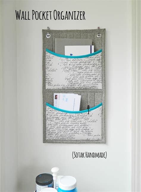 printable pocket organizer s o t a k handmade wall pocket organizer a tutorial