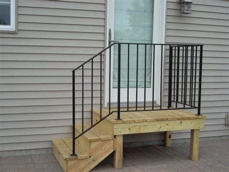 mobile stairs with metal handrail diy