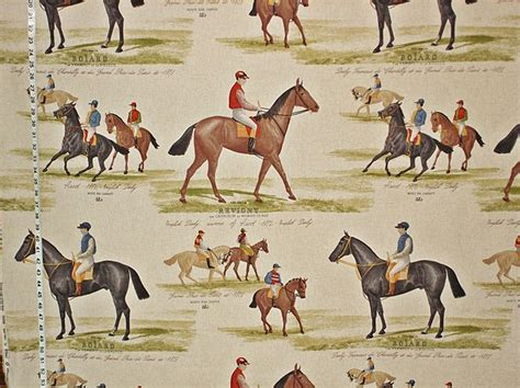 english pattern races horse racing fabric do it yourself pinterest horse
