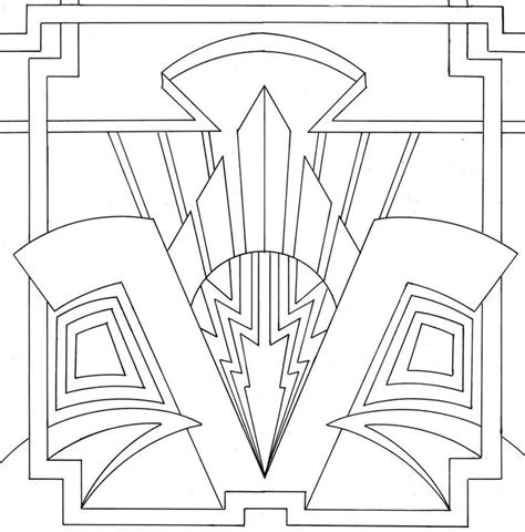 deco pattern pinterest art deco coloring page lovely stained glass pinterest