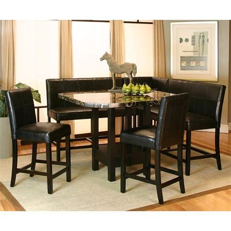 corner dining room set chatham counter height corner dining nook set cramco