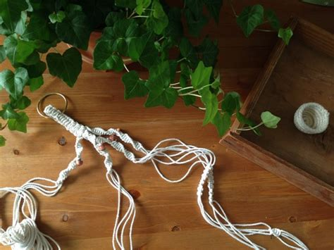How To Make A Macrame Plant Holder - macrame plant hanger ravenous craft