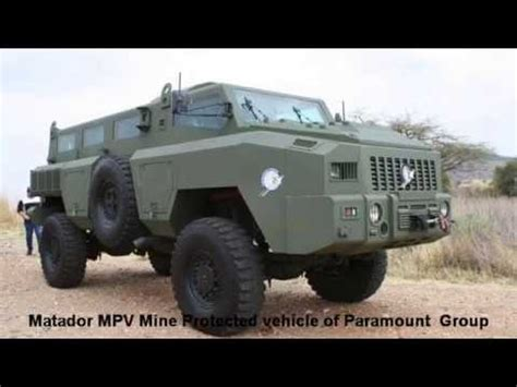 paramount matador matador mpv mine protected vehicle paramount group aad