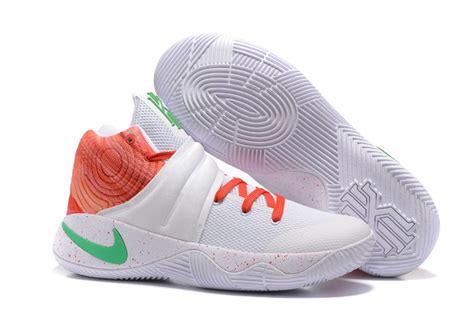 nike green and white basketball shoes nike kyrie 2 white orange green kyrie irving basketball