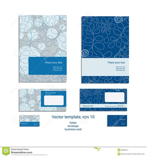 business card envelope template vector vector template for business artworks folder envelope