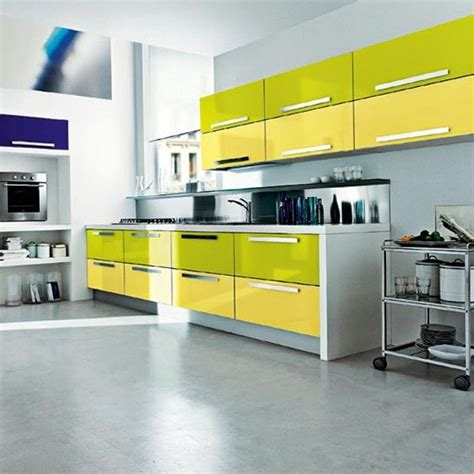 yellow green kitchen