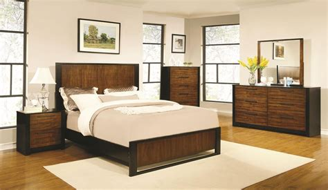 coronado cherry low profile bedroom set from