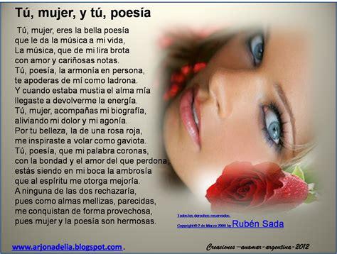 poemas para una chica tu mujer y tu poesia autor ruben sada bellisimo