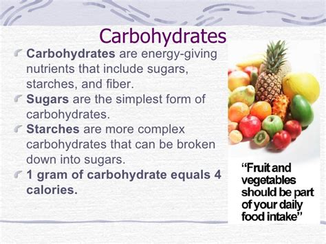 carbohydrates nutrients nutrition