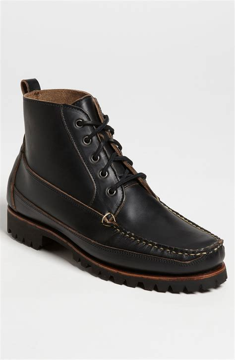 eastland kennebunk usa moc toe boot in black for lyst