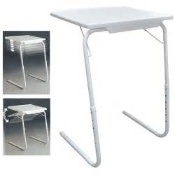 Folding Tv Tray Table White Folding Foldable Portable Mate Tv Dinner Laptop Tray Side Table Desk