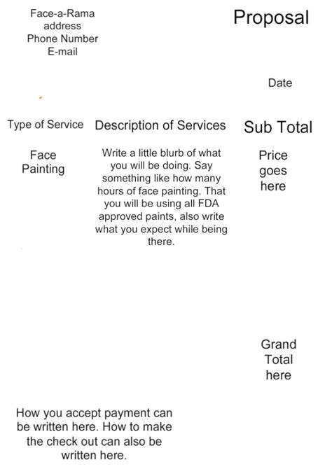 proposal for face painting help