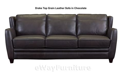 Best Leather Furniture by Top Grain Leather Sofa In Chocolate