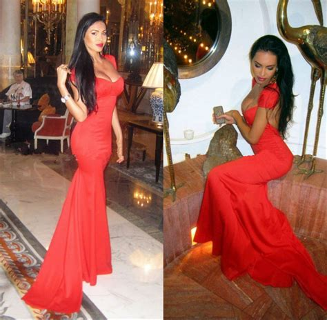 sweetheart cap sleeve open back fitted mermaid slim backless prom dress special