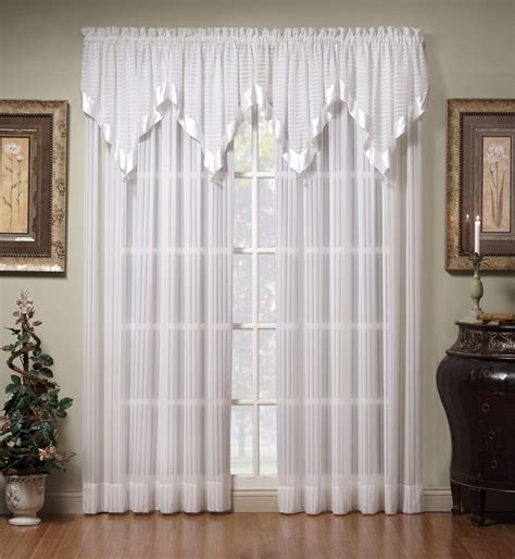 curtains sheers and panels curtain bath outlet silhouette stripe sheer curtain panel