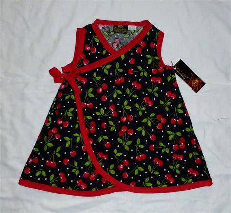New Punk Red Cherry Black Rockabilly Retro toddler baby