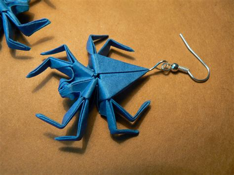 How To Make Origami Spider - origami spiders earrings by aegilrandir on deviantart