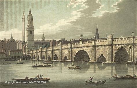 old boat london bridge old london bridge 1666 to 1825 where thames smooth