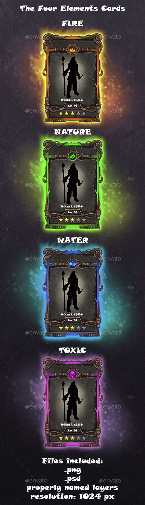 character card template photoshop crafting cards template ui 게임 ui 및 카드