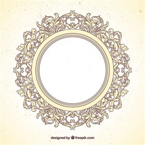 scarica cornice per foto gratis cornice rotonda in stile ornamentale scaricare vettori